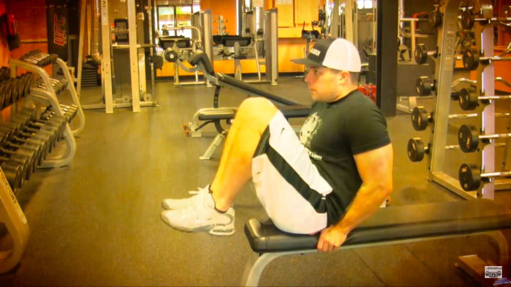 knee pull ins exercise