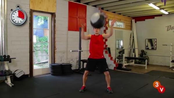 medicine ball squat 2