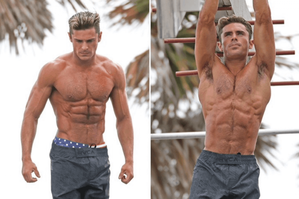 zac efron workout routine and diet plan
